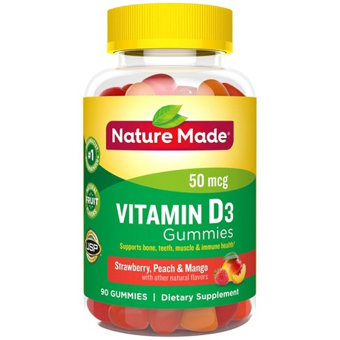 Nature Made Vitamin D3 Gummies - Strawberry, Peach & Mango - image 1 of 3