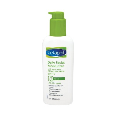 Facial Moisturizer: Cetaphil Daily Facial Moisturizer with SPF 15