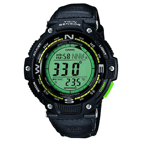 Casio® Men's Twin Sensor Compass Watch with Nylon Strap - Green - image 1 of 1