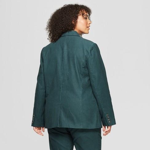 f4942a0afc4 Women s Plus Size Corduroy Blazer - Who What Wear™ Green 3X   Target