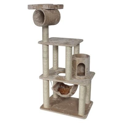 "Majestic Pet Products Casita Faux Fur Cat Tree - Honey (62"")"
