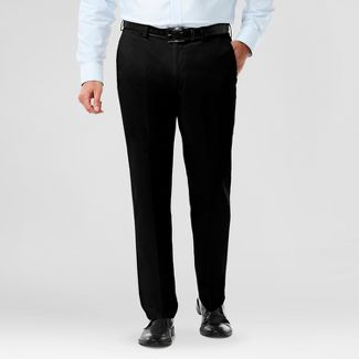 Haggar H26 Men's Classic Fit No Iron Stretch Pants - Black 32x32