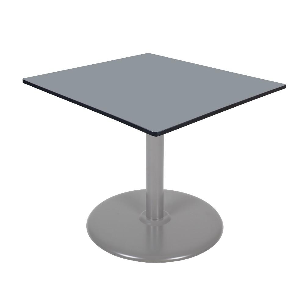 42 Via Square Platter Base Table Gray - Regency