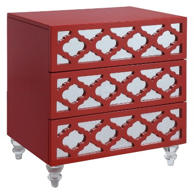 Tibbs Contemporary Side Table Red - HOMES: Inside + Out