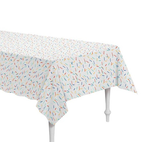 """54"""" x 84"""" Retro Confetti Plastic Table Cover - Spritz™ - image 1 of 1"""
