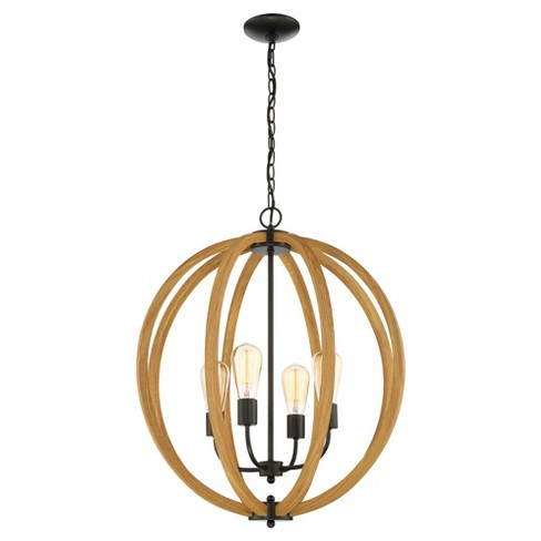 Ceiling Lights Matheus Chandelier - Oak - Lite Source - image 1 of 2
