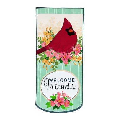 Evergreen Flag Spring Floral Cardinal Everlasting Impressions Textile DéCor