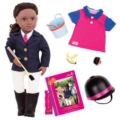 """Our Generation Rashida with Book & Outfit 18"""" Posable Horseback Riding Doll"""