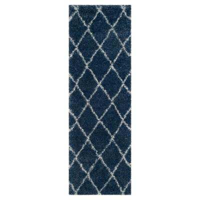 Montreal Shag Rug - Blue/Ivory - (2'3 X7')- Safavieh®