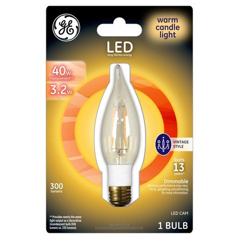 GE LED 40Watt Vintage Style CAM Light Bulb - Warm Candle Light - image 1 of 2