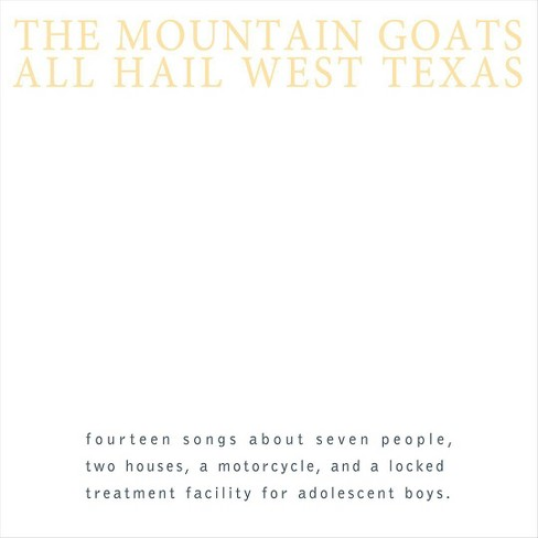 Mountain goats - All hail west texas (CD) - image 1 of 1