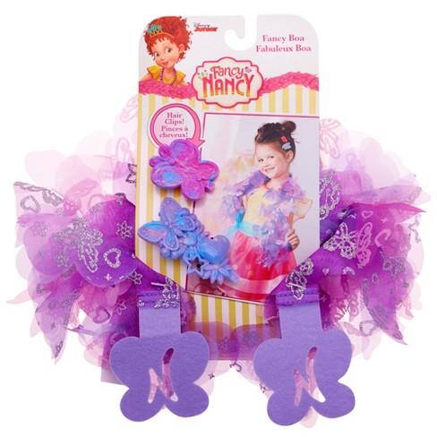 Disney Junior Fancy Nancy Purple Boa and Hair Accessories - image 1 of 6