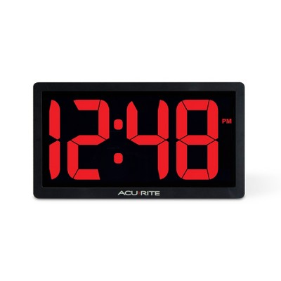 "10"" Digital Led Clock - AcuRite"