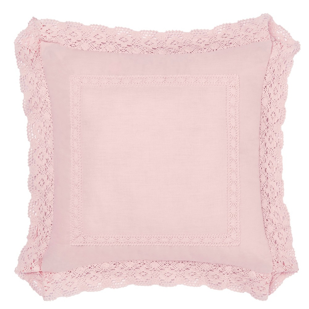 Image of 18x18 Pink Annabella Throw Pillow - Laura Ashley