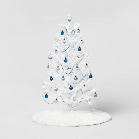Mini Tree Trim Kit Christmas Ornament Set Blue White And Silver Wondershop