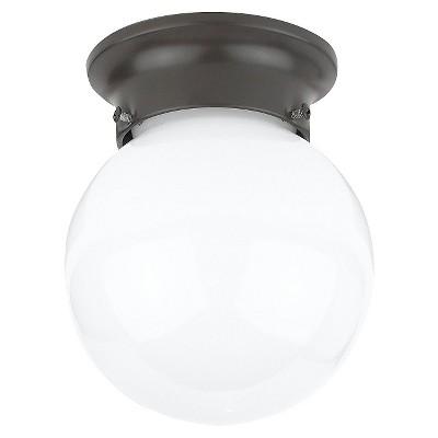 """7.5"""" Tomkin One Light Ceiling Flush Mount Heirloom Bronze - Sea Gull Lighting"""