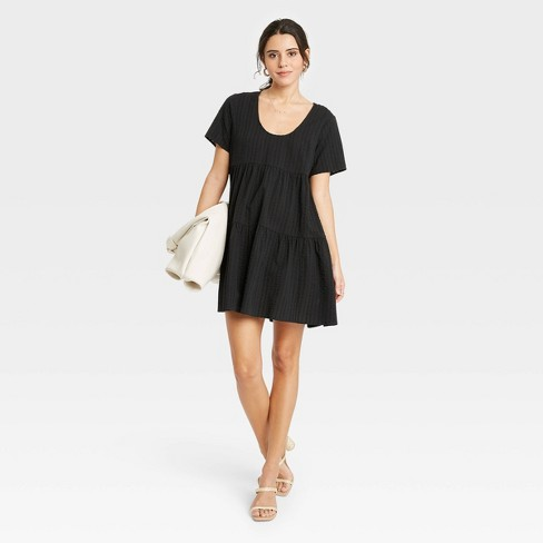 Women's Short Sleeve Tiered Dress - A New Day™ - image 1 of 3