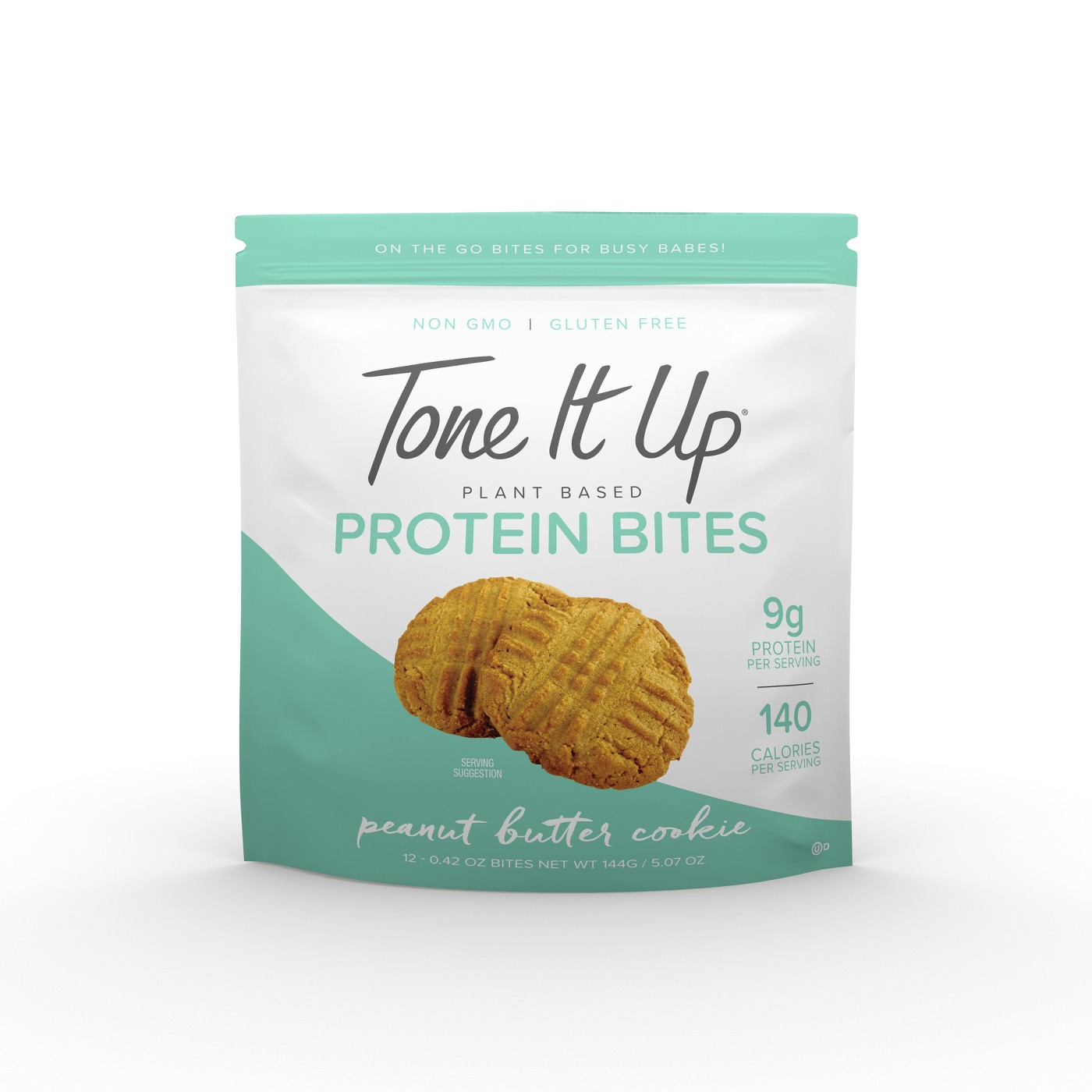 Tone It Up Plant Based Protein Bites - Peanut Butter Cookie - 12ct