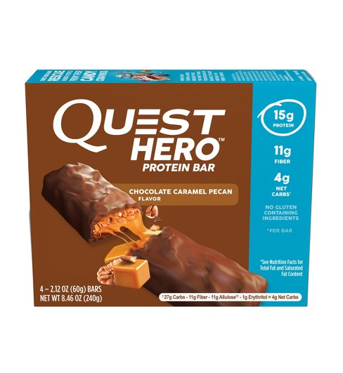 Quest Hero Protein Bar - Chocolate Caramel Pecan - 4ct - image 1 of 1