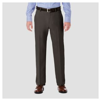 Haggar H26 Men's Performance 4 Way Stretch Classic Fit Trouser Pants - Charcoal Heather 42x30