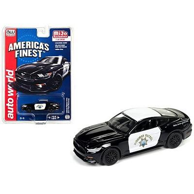 "2017 Ford Mustang GT ""America's Finest"" CHP California Highway Patrol Ltd Ed 3600pcs 1/64 Diecast Model Car Autoworld"