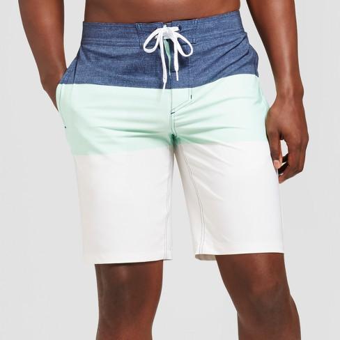 "Men's 10"" Trooper Board Shorts - Goodfellow & Co™ Mint Green - image 1 of 3"