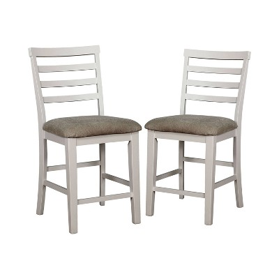 Set of 2 Tremond Dining Chairs White/Oak - HOMES: Inside + Out