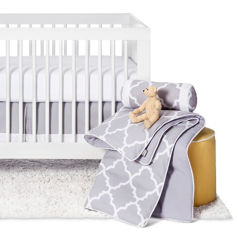 Sweet Jojo Designs Gray & White Trellis 11pc Crib Bedding Set - Gray - image 1 of 9