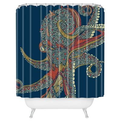 Valentina Ramos Azzuli Shower Curtain Navy - Deny Designs