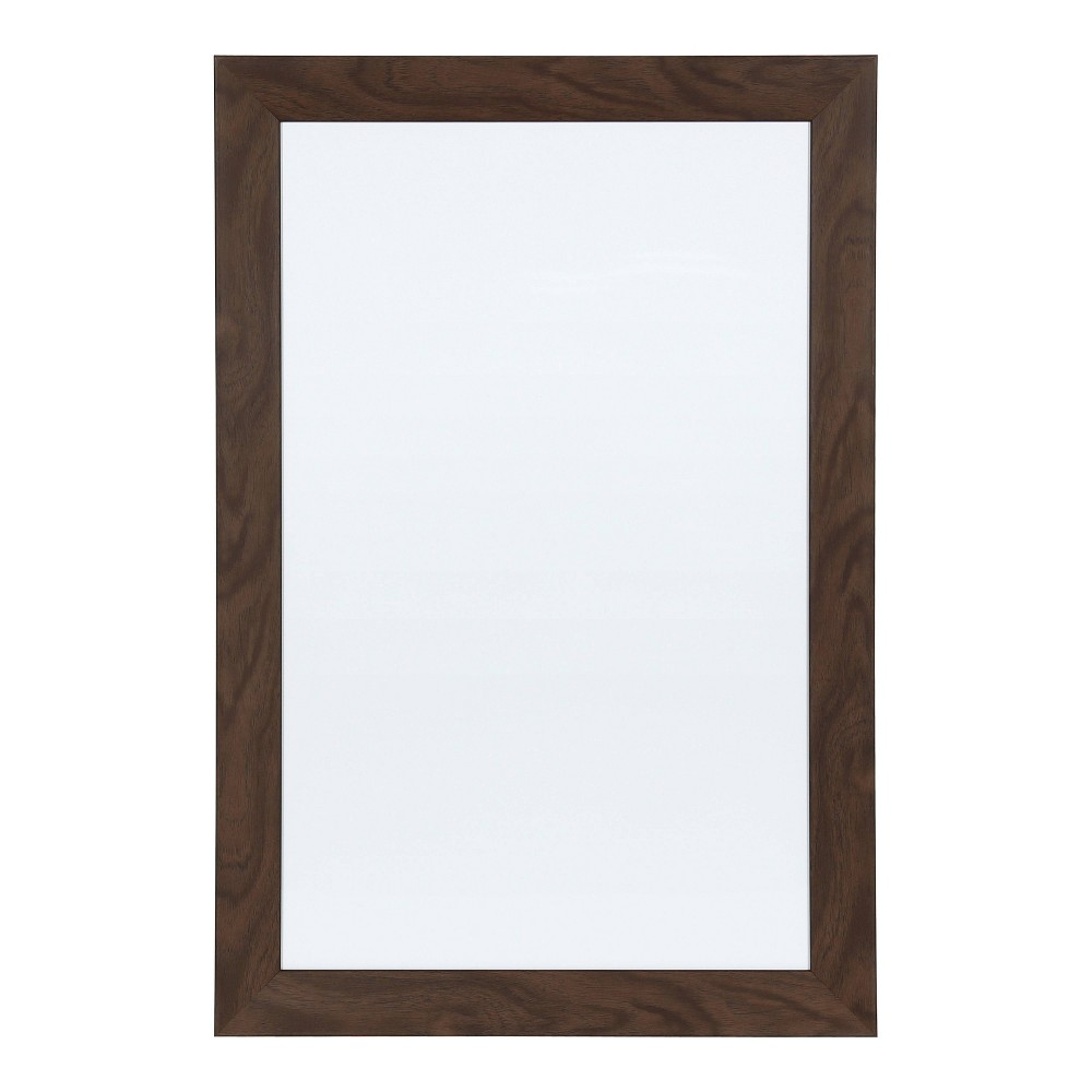 "Image of ""15"""" x 24"""" Beatrice Magnetic Dry Erase Walnut - DesignOvation, Brown"""