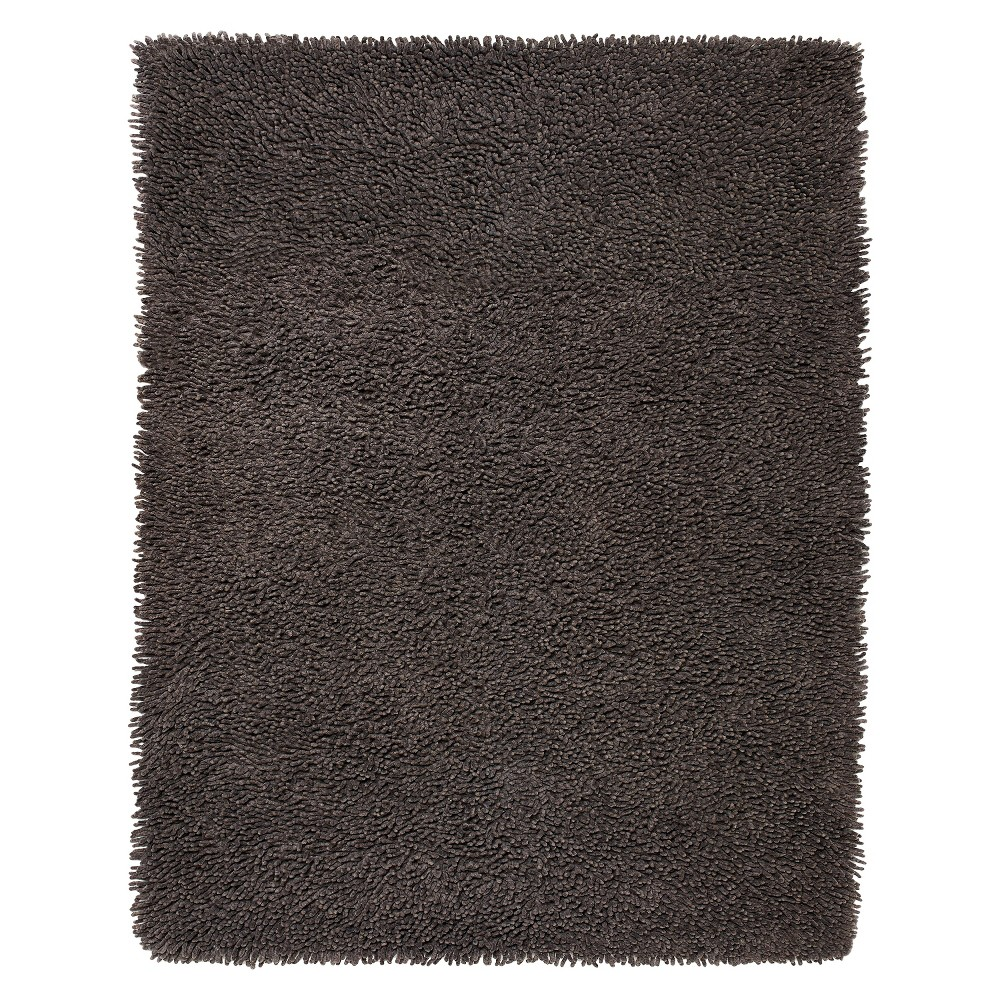 Image of 4' x 6' Cotton Chenille Shag Area Rug, Grey