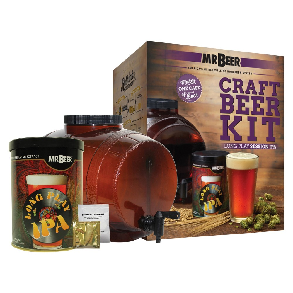 Image of Mr. Beer Long Play Ipa Craft Beer Making Kit, Brown