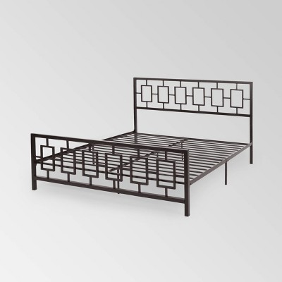 King Claudia Modern Low-Profile Platform Bed - Christopher Knight Home