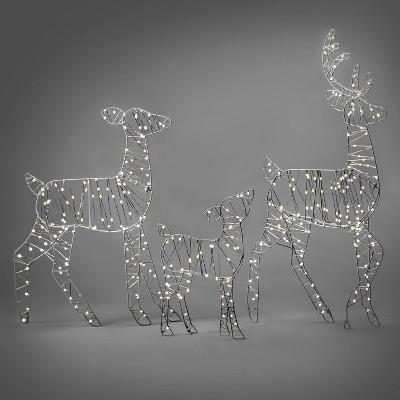 36in Deer Family Christmas LED Novelty Sculpture - Wondershop™