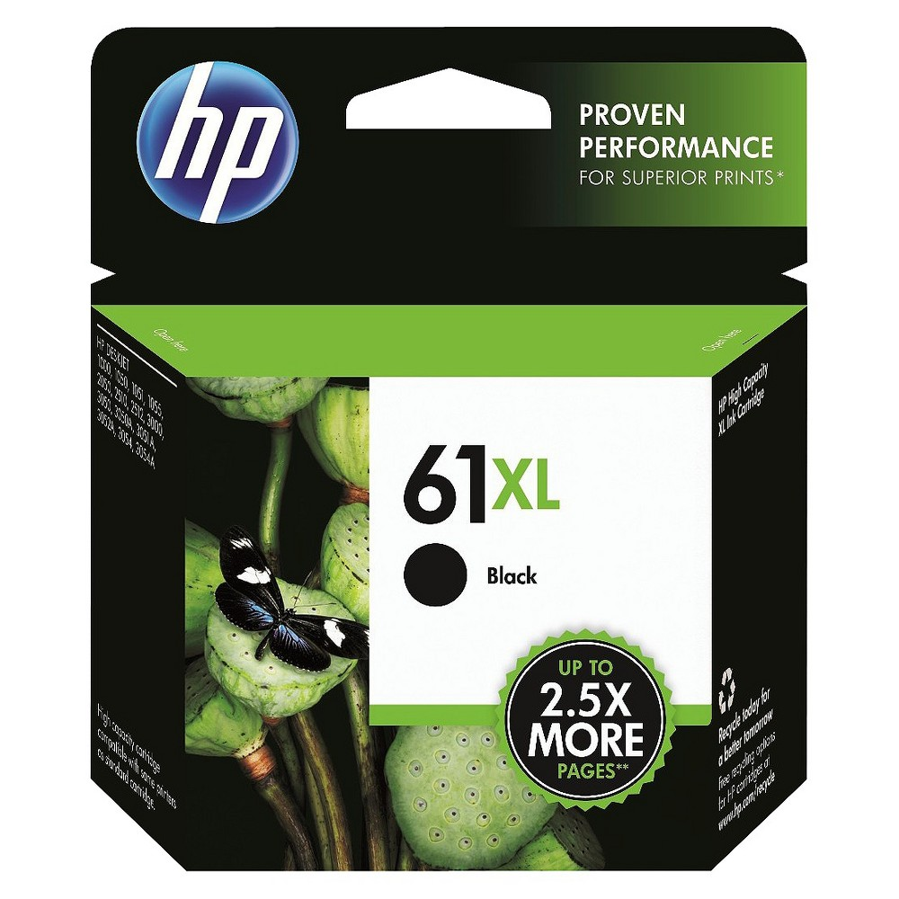 HP 61XL Single Ink Cartridge - Black (CH563WN#140), Black (61xl)