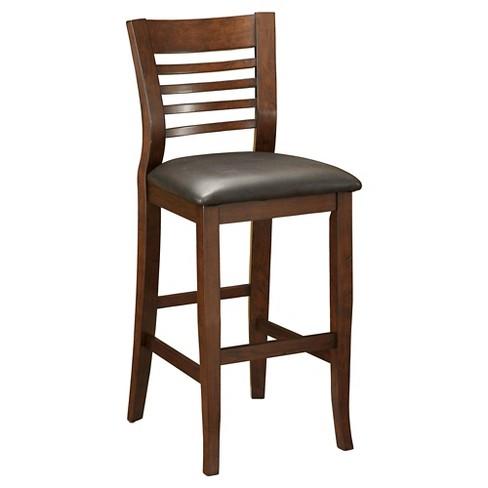 Mibasics Craig Ii Simple Transitional Bar Chair Brown Cherry Set Of 2