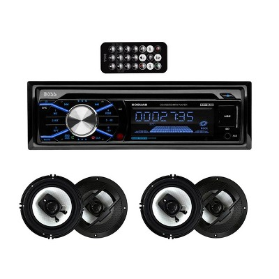 """Boss 508UAB In Dash Bluetooth CD Player Receiver with R63 6.5"""" 300W Speakers"""