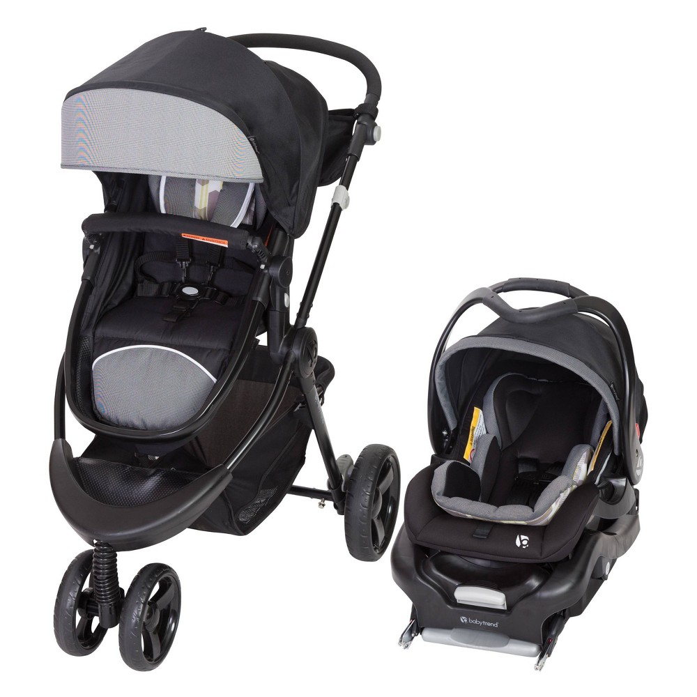 Image of Baby Trend 1st Debut 3-Wheel Travel System - Metric Gray