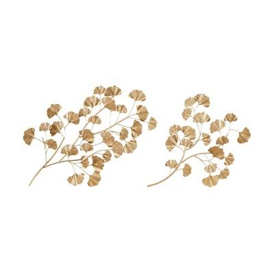 2pc Clio Gold Foil Ginkgo Leaf Gold - Martha Stewart
