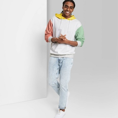 Men's Colorblock Hoodie Sweatshirt - Original Use™ True White