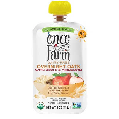 Once Upon a Farm Organic Dairy-Free Overnight Oats with Apple Cinnamon - 4oz