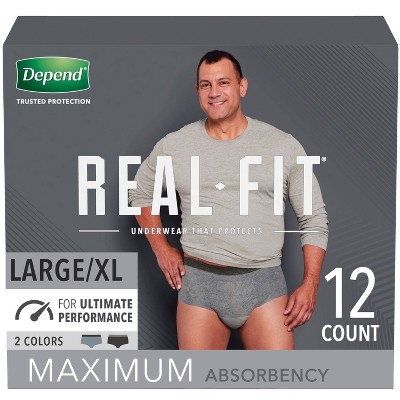 Depend Real Fit Maximum Absorbency Underwear for Men - S/M and L/XL
