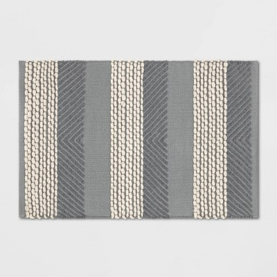 2'X3' Wool Stripe Scatter Rug Gray - Project 62™