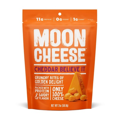 Moon Cheese Cheddar Natural & Crunchy Cheese Snack - 2oz - image 1 of 4