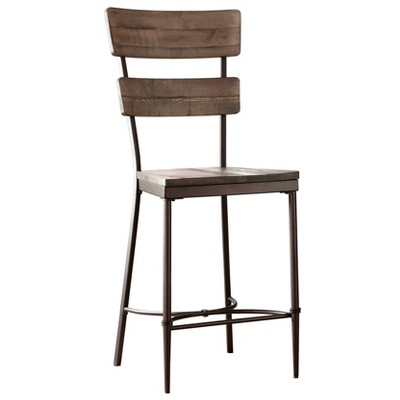 Set of 2 Jennings Counter Height Barstool - Distressed Walnut - Hillsdale Furniture