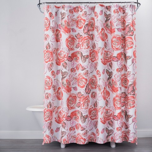 Rose Print Shower Curtain Disco Brown Opalhouse Target