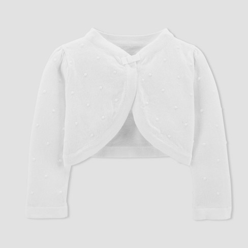 Baby Girls' Cardigan - Just One You™ Made by Carter's®  White - image 1 of 1