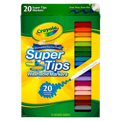 Crayola 20ct Super Tips Washable Markers