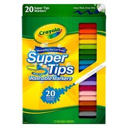 Crayola Supertips Markers Washable 20ct