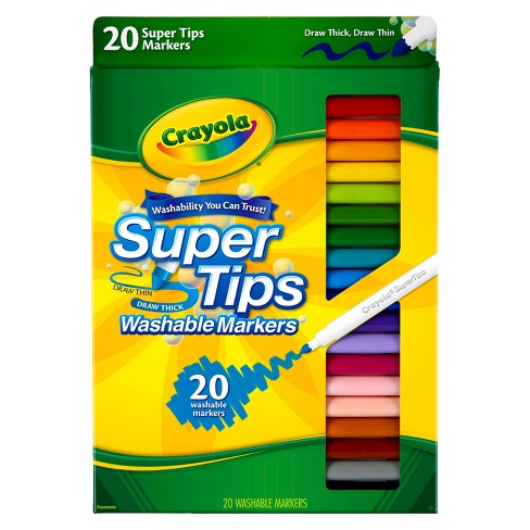 Crayola 20ct Super Tips Washable Markers - image 1 of 4